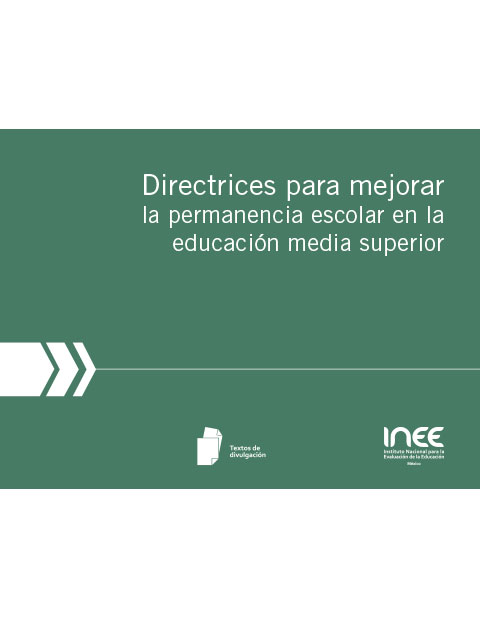 Folleto Directrices para mejorar la permanencia escolar en la educación media superior